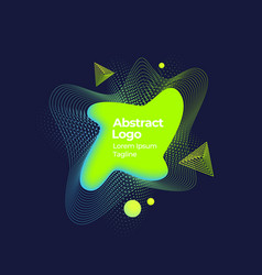 abstract geometric liquid banner emblem or vector image