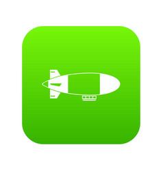 aerostat airship icon digital green vector image