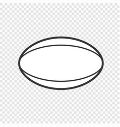 ball icon isolated vector image