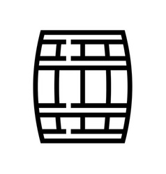 barrel wine wine line icon winery vector image
