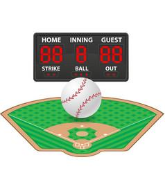 Baseball sports digital scoreboard vector