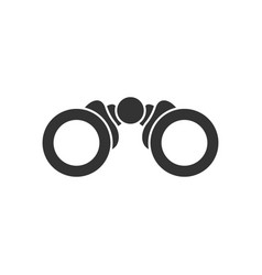 Binocular icon in flat style search on white vector