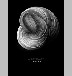 black color flow abstract shape poster design vector image