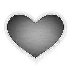 Black heart shape frame EPS 10 vector