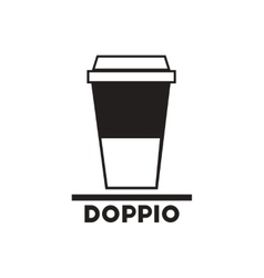 black icon on white background doppio to go vector image