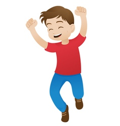 Boy Jumping for Joy vector