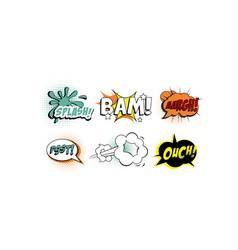 bright comic speech bubbles set text sound vector image