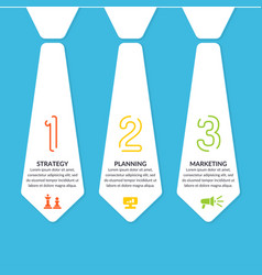 business infographics template stripe for text and vector image