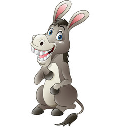 cartoon funny donkey mascot vector image
