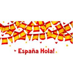 celebration background with garlands waving vector image