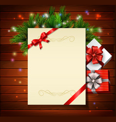 Christmas background wish list vector