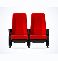 cinema movie theater red comfortable chairs vector image