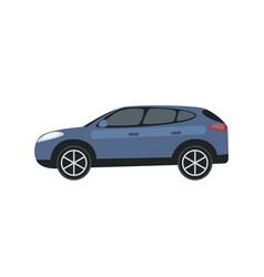 clip art blue car vector image