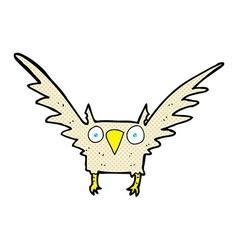 Comic cartoon owl vector