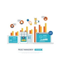 Concept for business analysis investment vector