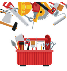 construction toolbox service ilustration vector image