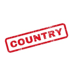 Country Text Rubber Stamp vector