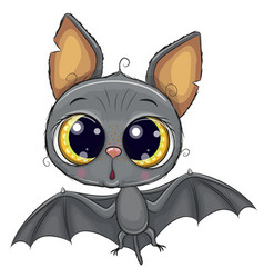 Cute bat isolated on a white background vector