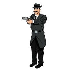 Detective or policeman cartoon design vector image