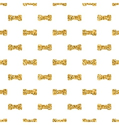 Dumbbell big geometric seamless pattern gold white vector