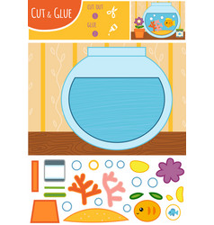 education paper game for children goldfish in a vector image