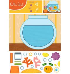 education paper game for children goldfish vector image