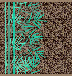 fashion seamless pattern with bamboo and vector image