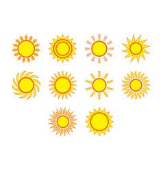 Flat color sol icon set vector