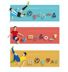 Flat design stylish concept with icons of soccer vector