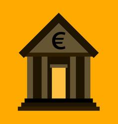 flat icon on stylish background business bank vector image