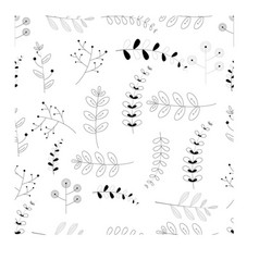 flora seamless pattern graphic design black and vector image
