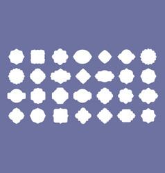 frame label set vintage blank badge shapes vector image
