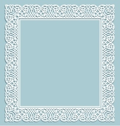Frame with shadow vector