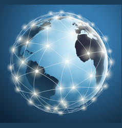 global networks digital connections vector image