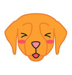 golden retriever cute kawaii character vector image