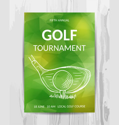Golf party invitation card sport tournament flyer vector