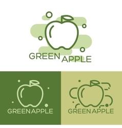 Green apple - logo vector image