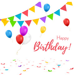happy birthday banner greeting card vector image