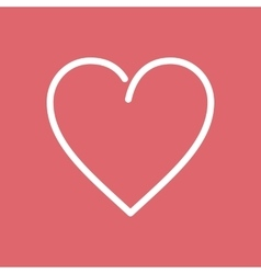 Heart Flat Line Icon vector image