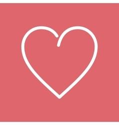 Heart Flat Line Icon vector