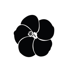 Hibiscus silhouettes vector image