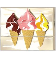Ice cream board vector image