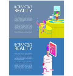 Interactive reality gadget set vector