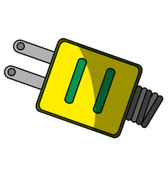 Isolated ecologic electric plug vector