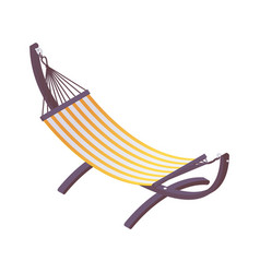 isometric hammock on a stand for hotels cottages vector image