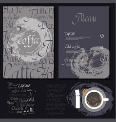 Kafe menu set vector