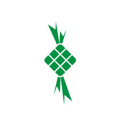 ketupat eid al fitr icon design template isolated vector image