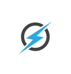 Lightning logo template icon vector