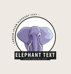 Logo with an elephant for you vector