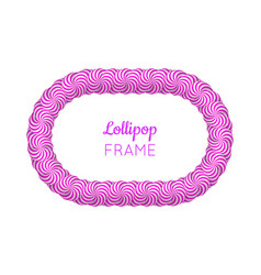 Lollipop violet frame vector
